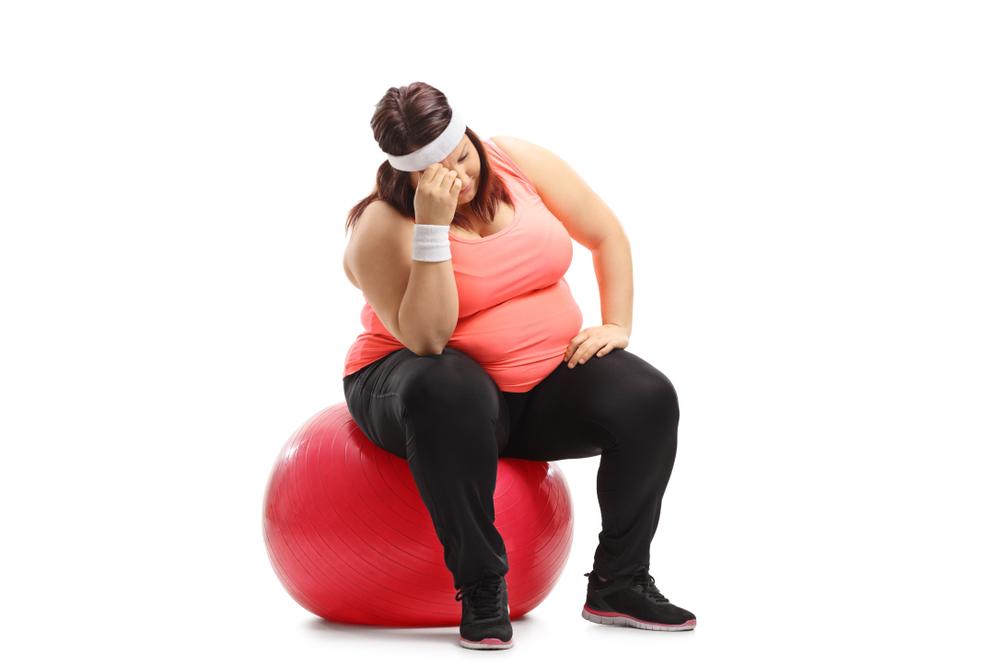 Лишний вес часто усугубляет депрессию