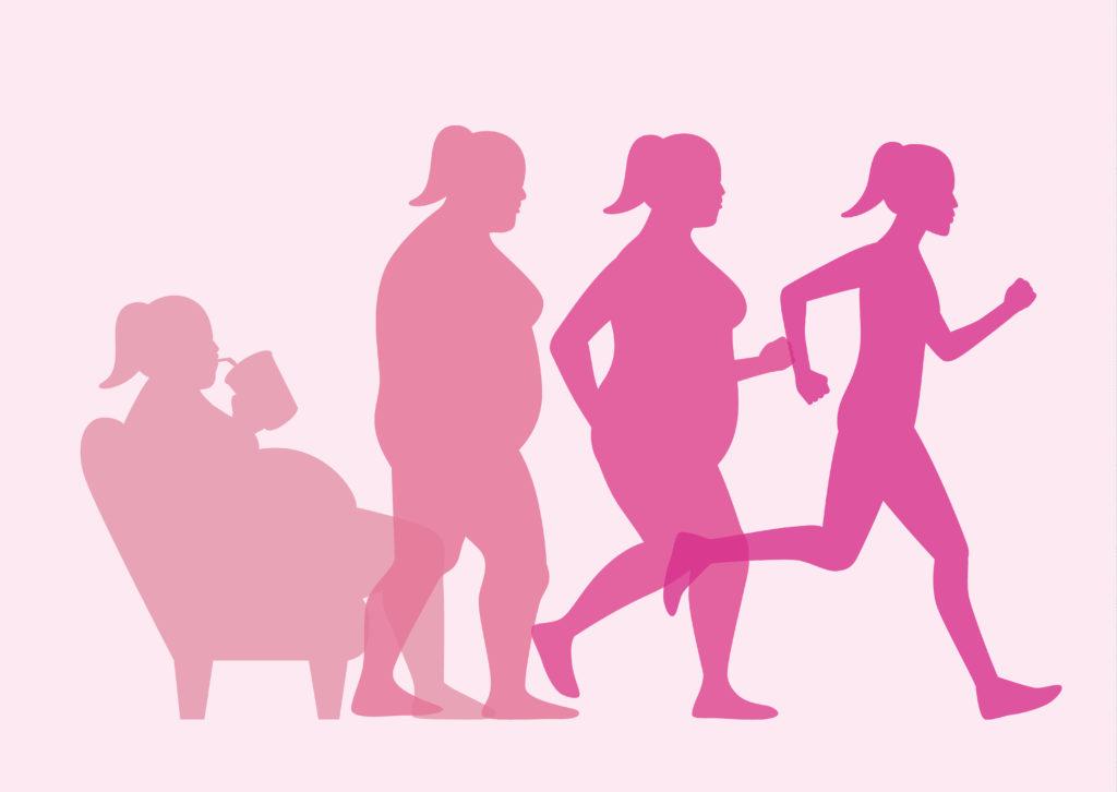 При похудении двигайтесь вперед